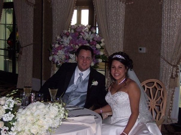 Michelle At Her Wedding Sweetheart Table