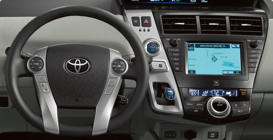 Toyota Prius V Interior from Toyota Website