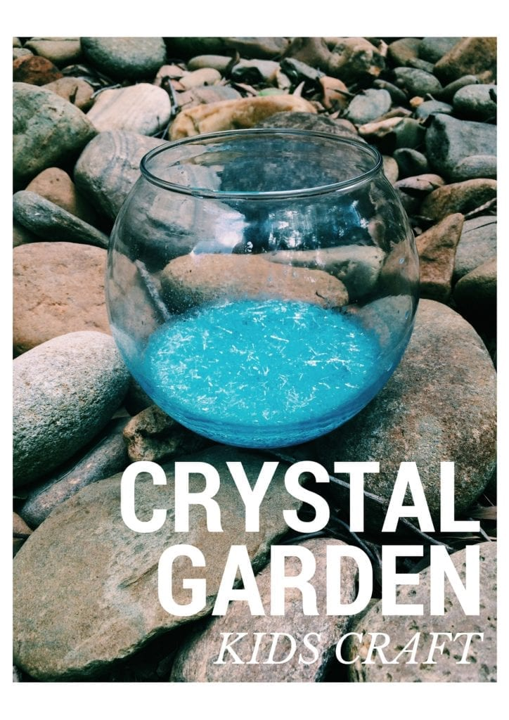 Fun Kids Craft For The Summer: Crystal Garden