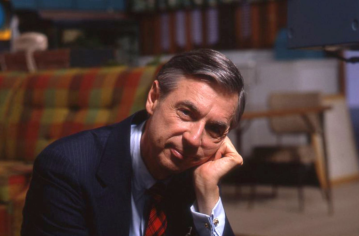 Fred Rogers on the set of his show Mr. Rogers Neighborhood from the film, WON'T YOU BE MY NEIGHBOR, a Focus Features release. Credit: Jim Judkis / Focus Features