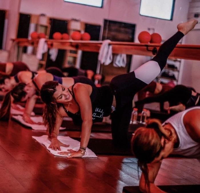 Ali Landry putting in an AMAZING workout at La Barre Belle: Photo Credit La Barre Belle