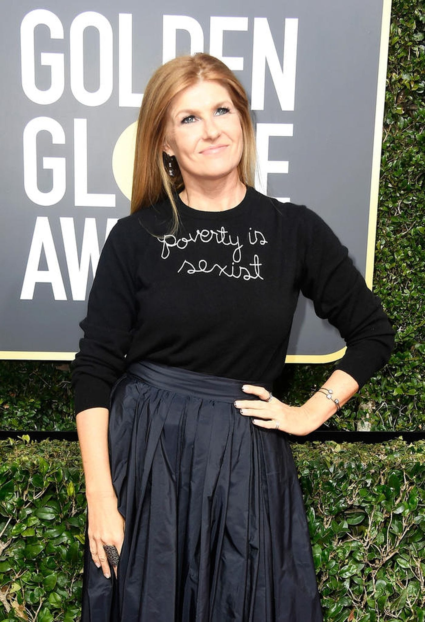 Actress Connie Britton at the 75th Golden Globe Awards at the Beverly Hilton Hotel on Jan. 7, 2018 in Beverly Hills. (Frazer Harrison/Getty Images)