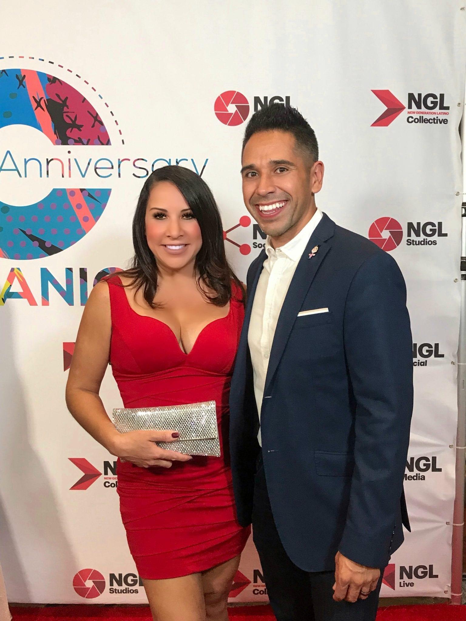 Michelle Rivera of 'Michelle Rivera Lifestyle' and Erik Rivera of HBO Latino Comedy Special: SUPER WHITE